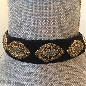 Jewelry - Jeweled Black velvet choker